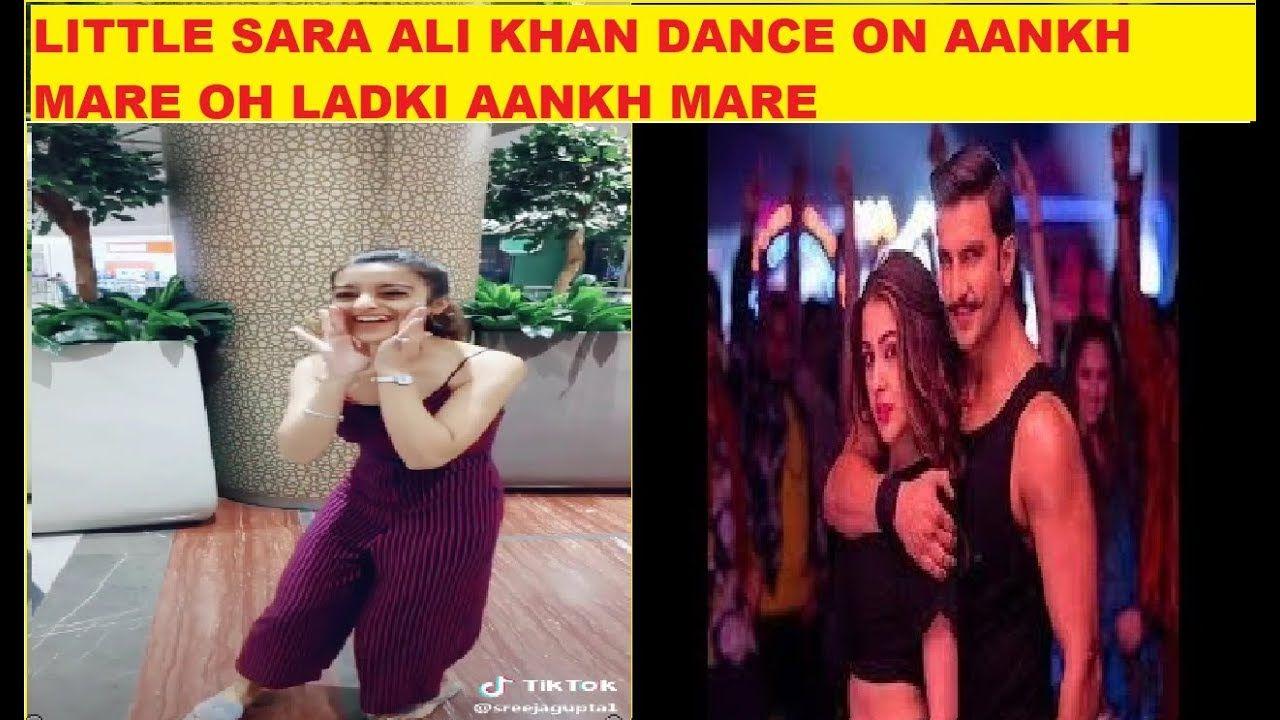 Little Sara Ali Khan On Aankh Mare Ladki Aankh Mare Tiktok Mose Pretty Sara Ali Khan Pretty Girl