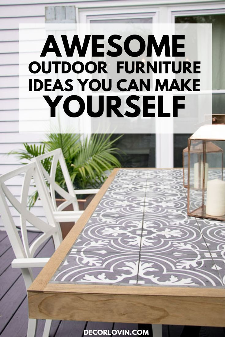 Why buy furniture when you can make your own! Make sure your backyard is ready for summer with these DIY outdoor furniture projects.
