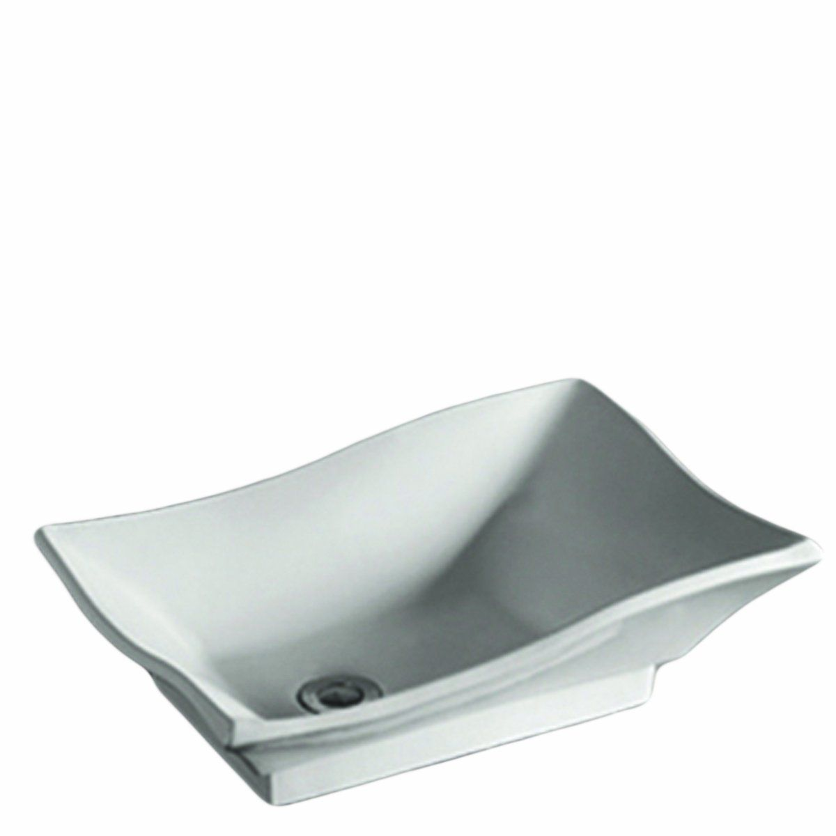 Whitehaus Whkn1078 Wh Isabella 20 Inch Rectangular Above Counter Lavatory Basin With Offset Center Drain And No Overflow Whit White Vessel Sink Basin Lavatory