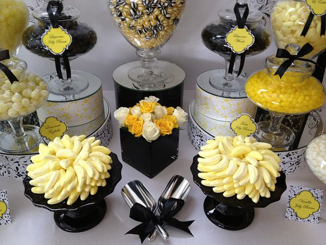 Magnificent By The Couture Candy Buffet Company Black White And Yellow Download Free Architecture Designs Embacsunscenecom