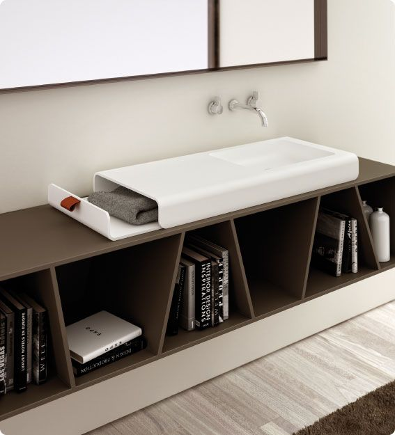 a sink that captures a furniture aesthetic.
