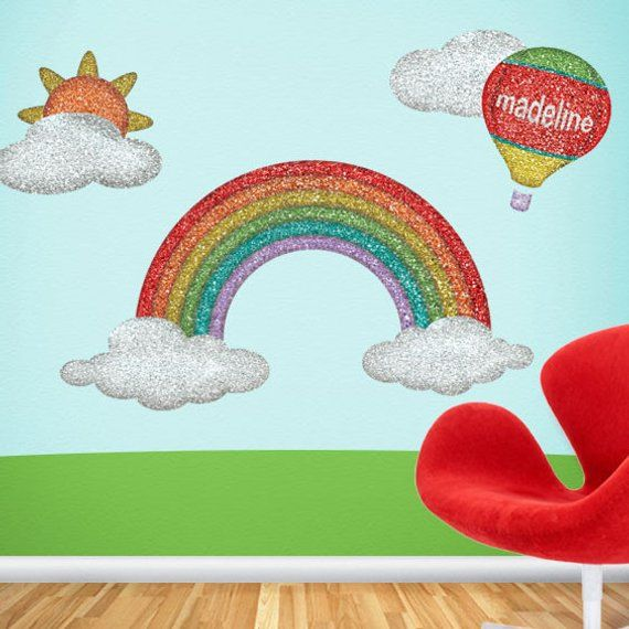 rainbow wall sticker decal wall mural for girls room | products in