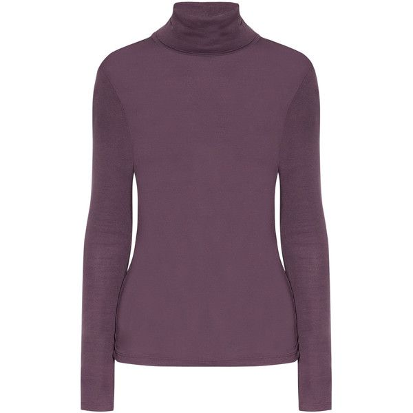 Splendid Stretch-jersey turtleneck top (2.830 RUB) ❤ liked on Polyvore featuring tops, sweaters, turtleneck, purple sweater, splendid tops, purple top, purple turtleneck and turtle neck top