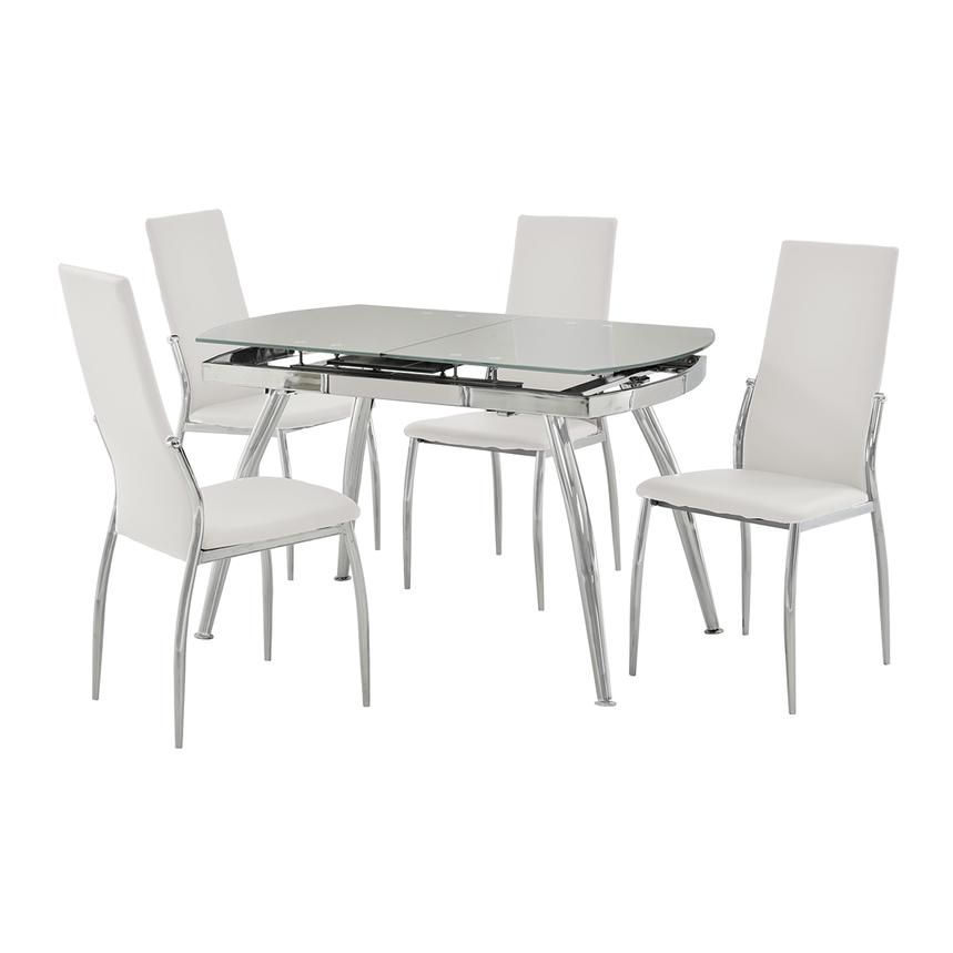 Luna White 5 Piece Casual Dining Set I Purchased This With Grey Dark Grey Chairs The Chairs Ar Casual Dining Set Kitchen Seating Shabby Chic Table And Chairs