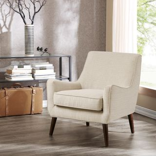 Oxford Cream Colored Modern Accent Chair  Overstock™ Shopping Gorgeous Overstock Living Room Chairs Design Ideas