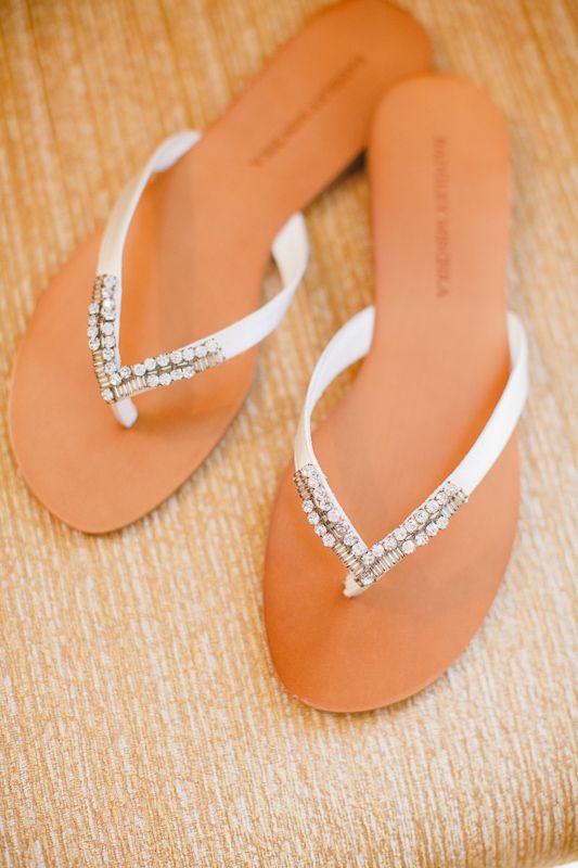 59a8b2faeee5e Wedding dress · Bridal flip flops-beach wedding shoes