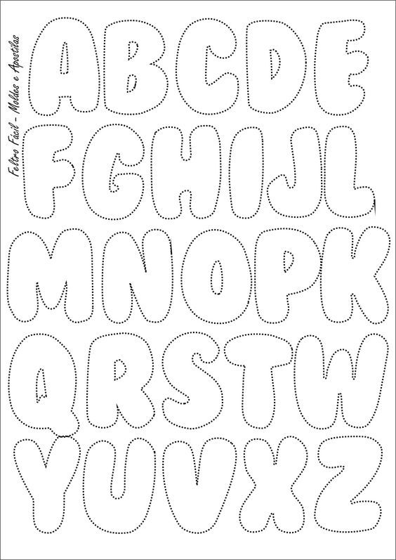 bubble letter a letras quilted things pinte 1102