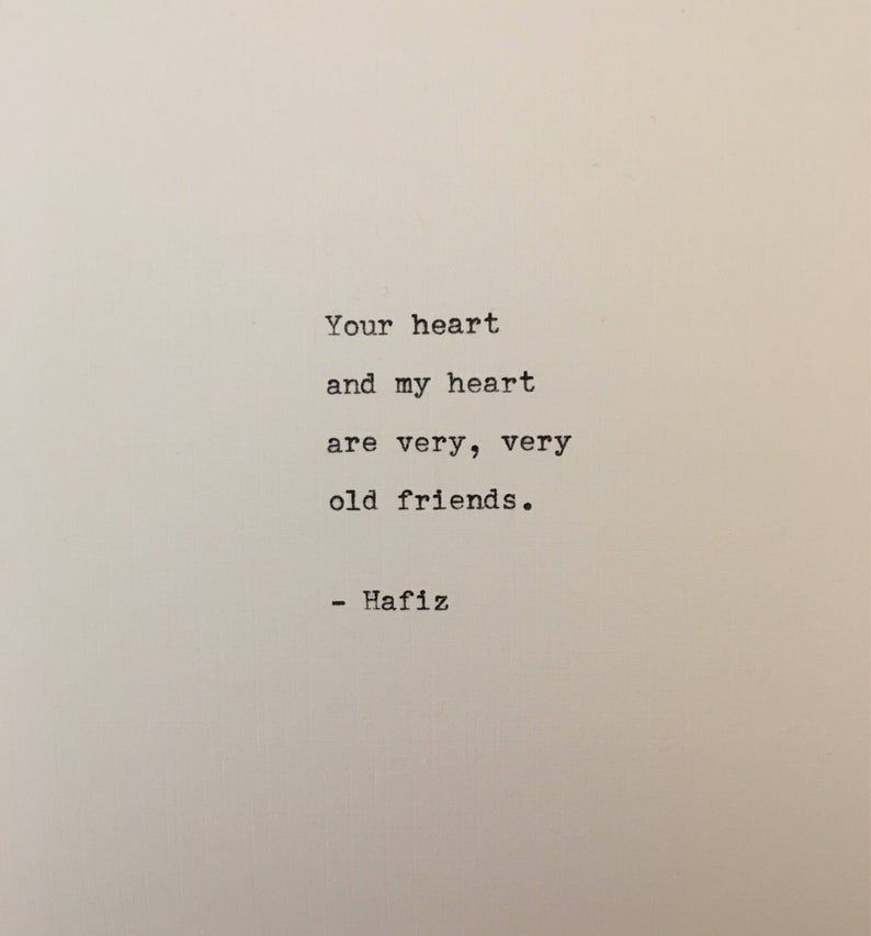 Hafiz quote typed on typewriter - unique gift