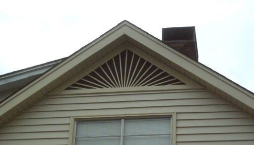 Gable Vents On Pinterest Rising Sun Pitch And Trellis