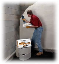 Restoring wet cracked ugly walls waterproofing walls - Sealing exterior cinder block walls ...