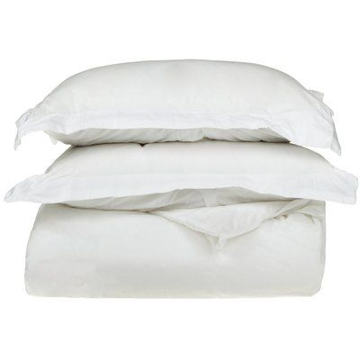 The Twillery Co Duvet Cover Set Color White Size King