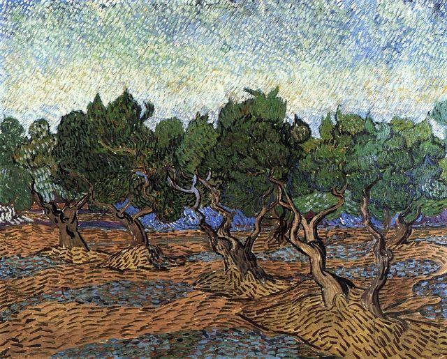 Olive Grove, 1889, Vincent van Gogh Festmények, Rajzok