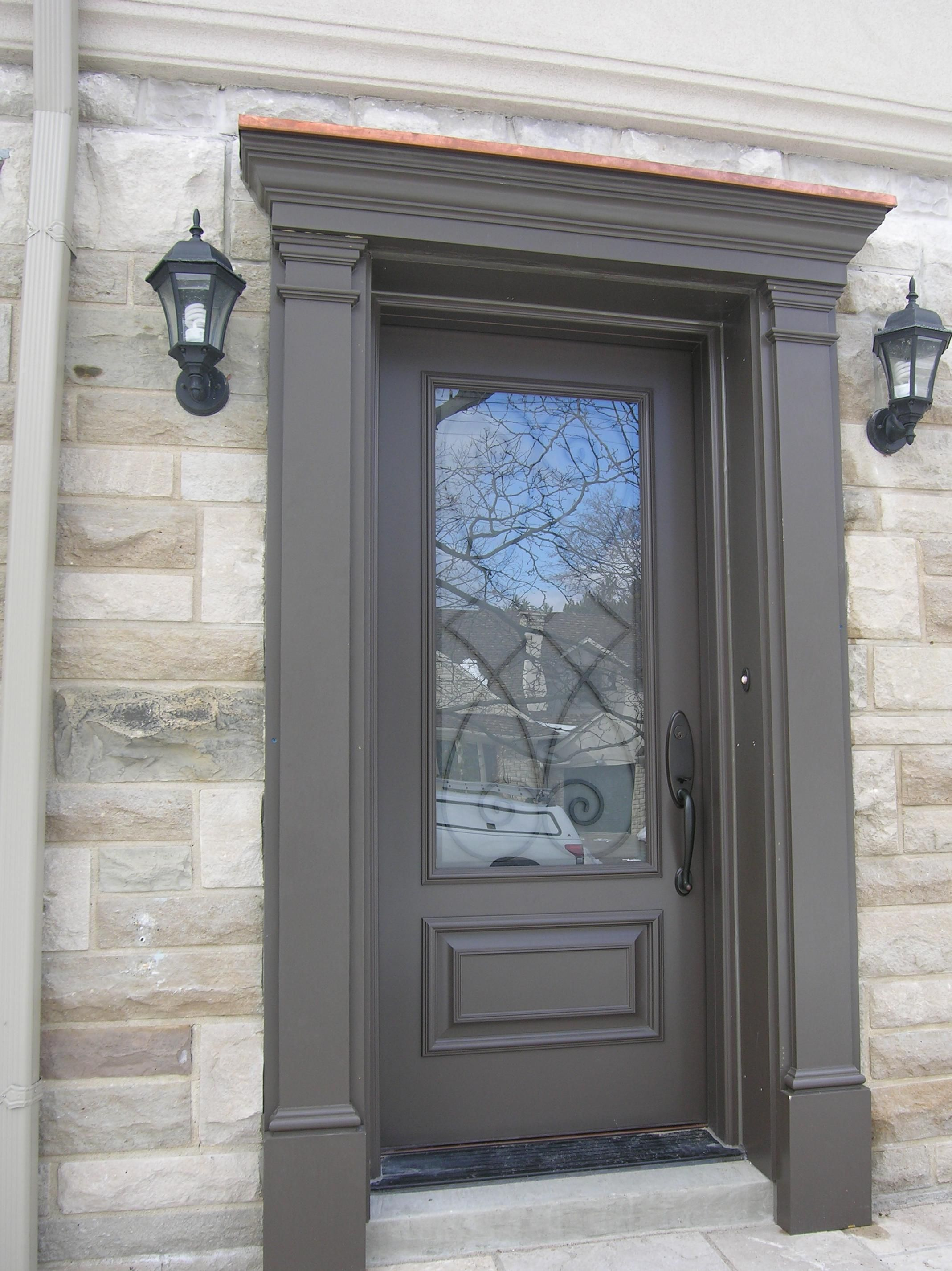 fibreglass door entry with matching pilasters and pediment door surround i like the depth created here but i do not think we have room for it