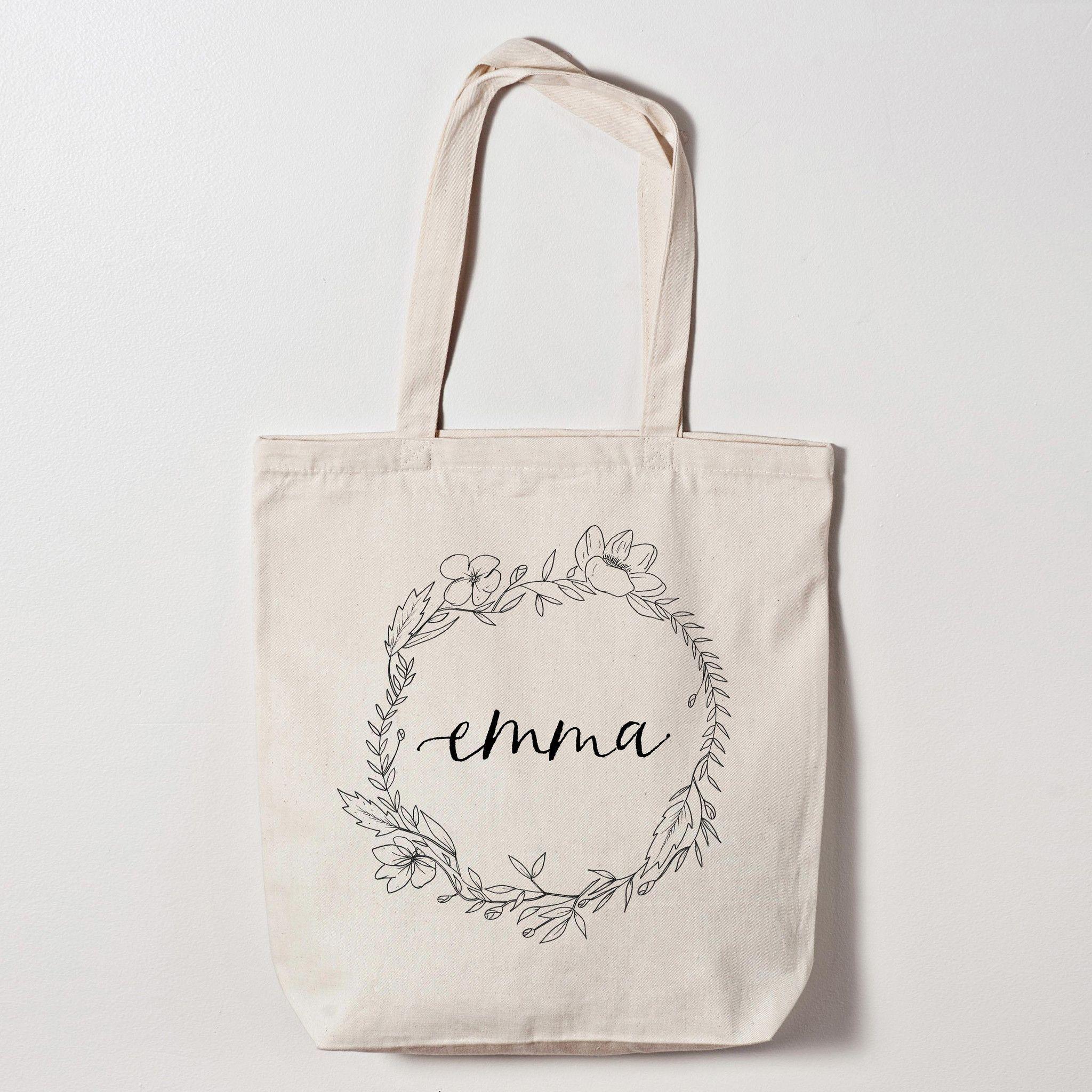 personalized bridesmaid gift bag - natural, organic style bridesmaid ...