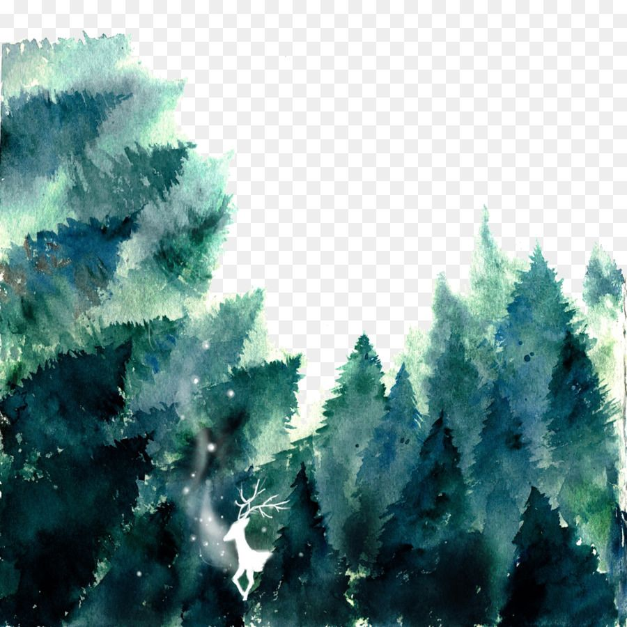 Forest Watercolor Painting If We Painted Forest Png Is About Is About Fir Biome Evergreen Pine Family Sky Forest Wat Besplatnye Ramki Risunki Oboi Fony