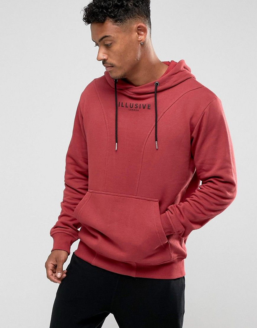 Get this Illusive London's hooded sweatshirt now! Click for more details. Worldwide shipping. Illusive London Hoodie In Burgundy - Red: Hoodie by Illusive London, Soft-touch sweat, Drawstring hood, Over-the-head style, Pouch pocket, Fitted trims, Regular fit - true to size, Machine wash, 70% Cotton, 30% Polyester, Our model wears a size Medium and is 183cm/6'0 tall. After the success of SikSilk, the team of designers behind it focus on the male physique in new label Illusive London. Expect…