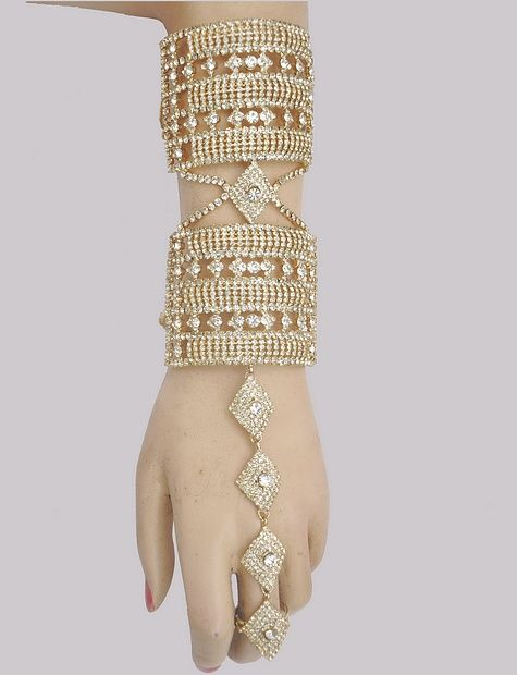 Ring With Bracelet Attached Haathpanja Hennaheels