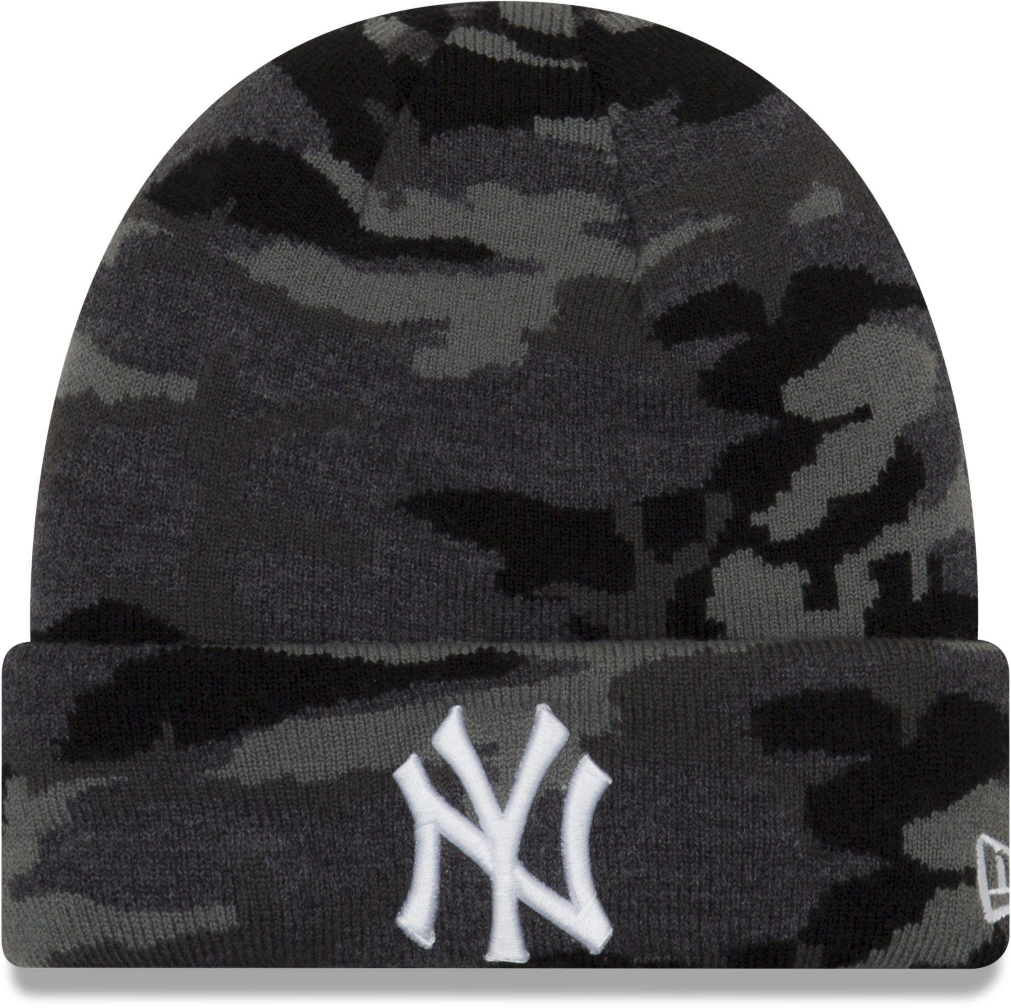 the best attitude 785a3 13a55 New York Yankees New Era Essential Midnight Camo Knit Beanie – lovemycap