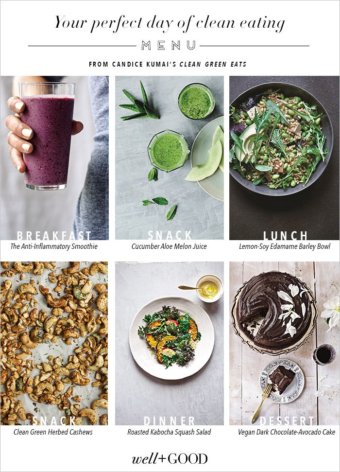 Recipes for a perfect day of clean eating from breakfast to dessert candice kumai sets you up for a super healthy day of clean eating with a foolproof menu of easy recipes from her book clean green eats forumfinder Gallery