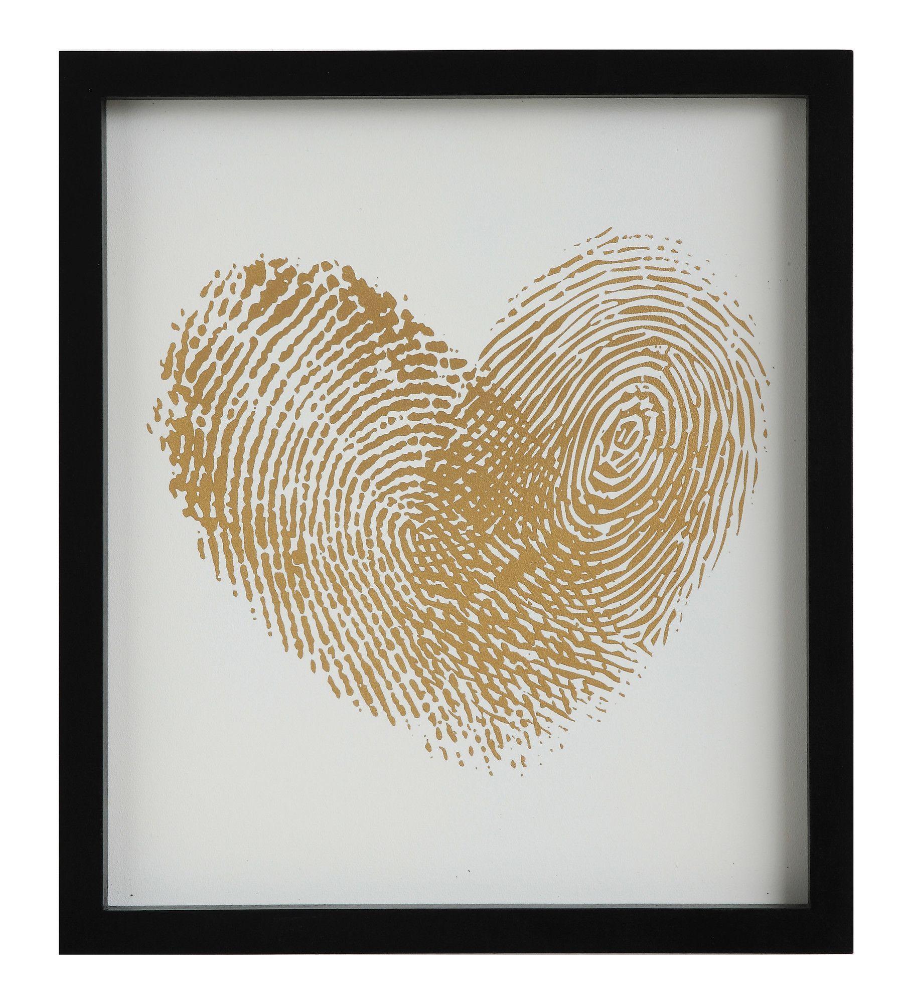 Thumbprint Heart Wall Décor