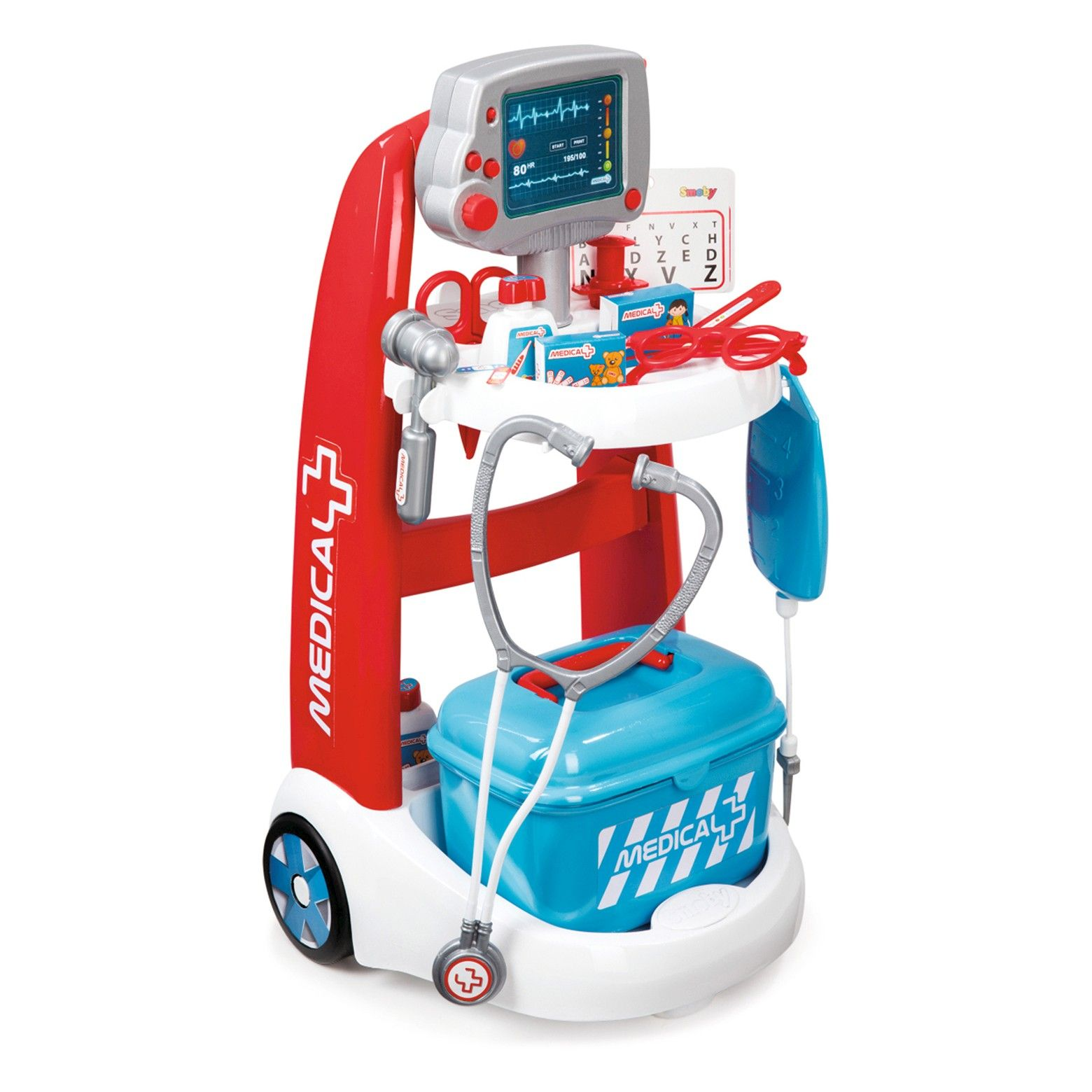 Smoby Doctor Playset Trolley with Accessories and Sounds