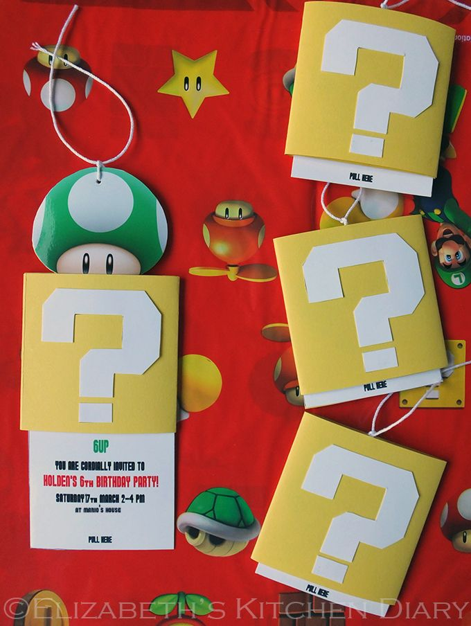 DIY Super Mario Bros Birthday Party Invitation A StepbyStep