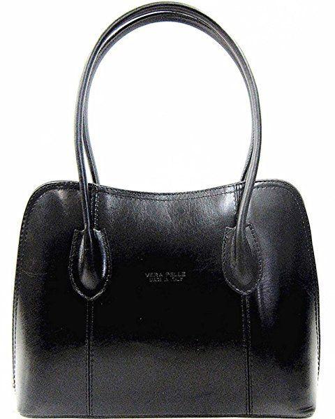 Handbag Bliss Vera Pelle Italian Leather Smooth Finish Stunning Shoulder Bag Black