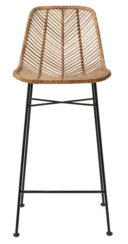 Metal Et Rotin Pour Une Chaise De Bar Moderne Et Simple