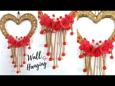 New Heart Wall Hanging Craft Ideas Easy Wall Decoration Ideas