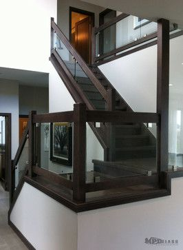 Glass Staircase Railings – staircase – other metro – MPD Glass & Vinyl Graphics