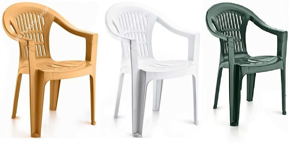 Plastic Garden Low Back Stackable Chair Patio Outdoor Party Picnic