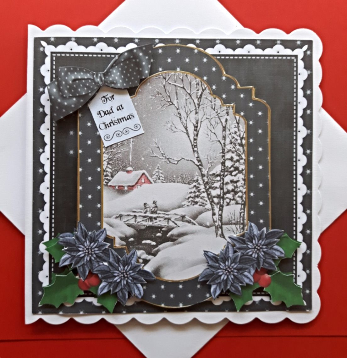Handmade Christmas Card For Dad With Winter Scene Christmas Cards