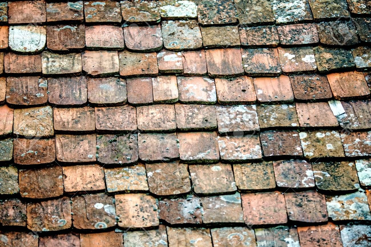 Old Roof With Medieval Roof Tiles Roof Tiles Roof Medieval
