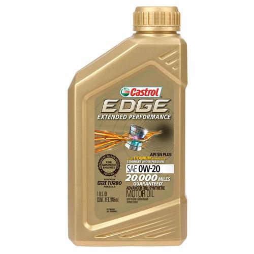 Castrol 06240 Edge Extended Performance 0w 20 Advanced Full Synthetic Motor Oil Motor Oil Synthetic Oil Oils