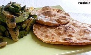naan au curry ! simple et rapide ! un excellent accompagnement pour les légumes !