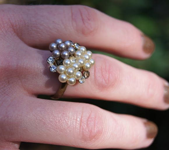 Make a ring out of an old clip-on earring!
