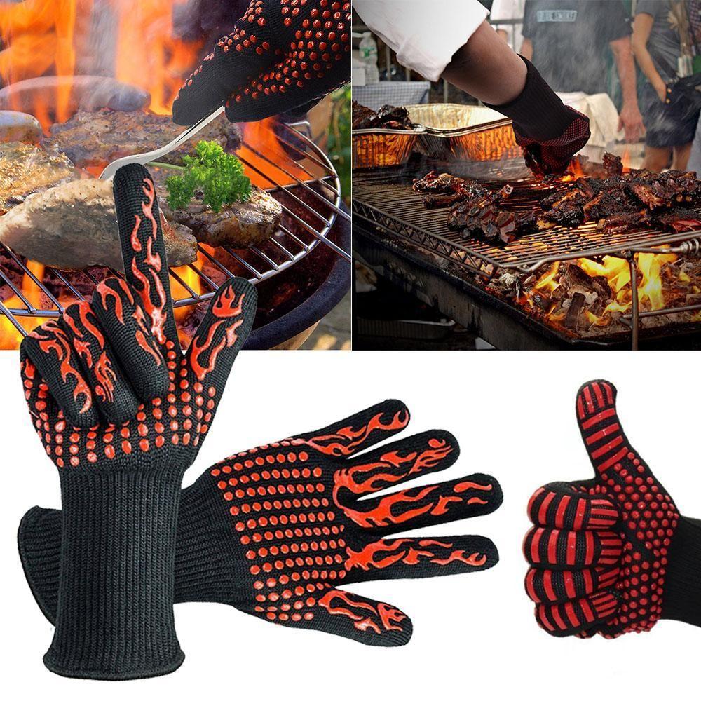 932 Extreme Heat Resistant Bbq Firepr Heat Resistant Gloves Bbq Gloves Cooking Gloves