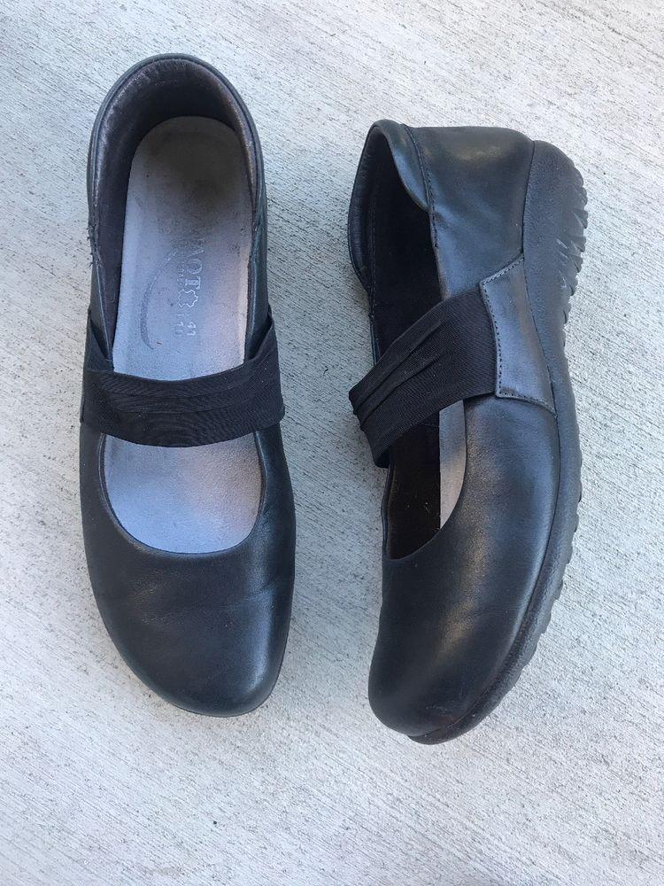 2f5f4b7f960 Naot Black Leather Mary Jane Flats Loafers Shoes - Black - EU 41 Comfort  Shoes
