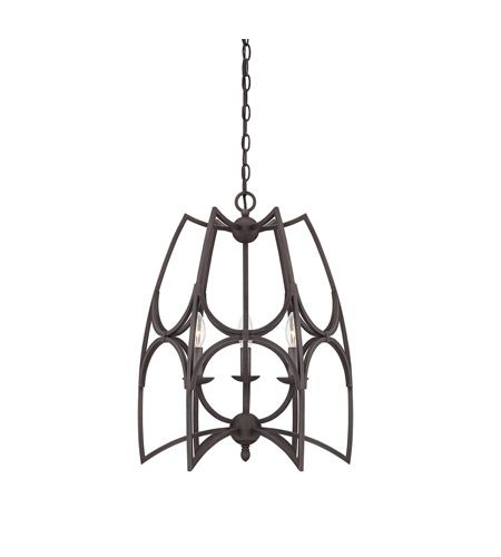 Savoy House Society Collection 3 Light Pendant in English Bronze 7 ...