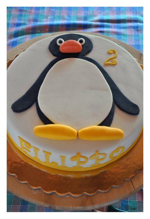 pingu fyller år Pingu Cake http://.facebook.com/CakeDesignerBrescia | pastalar  pingu fyller år