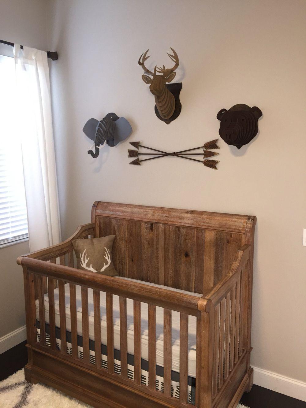 Rustic Theme Boy S Nursery Pembroke Crib From Babies R Us Rustic Baby Rooms Rustic Crib Rustic Nursery Furniture