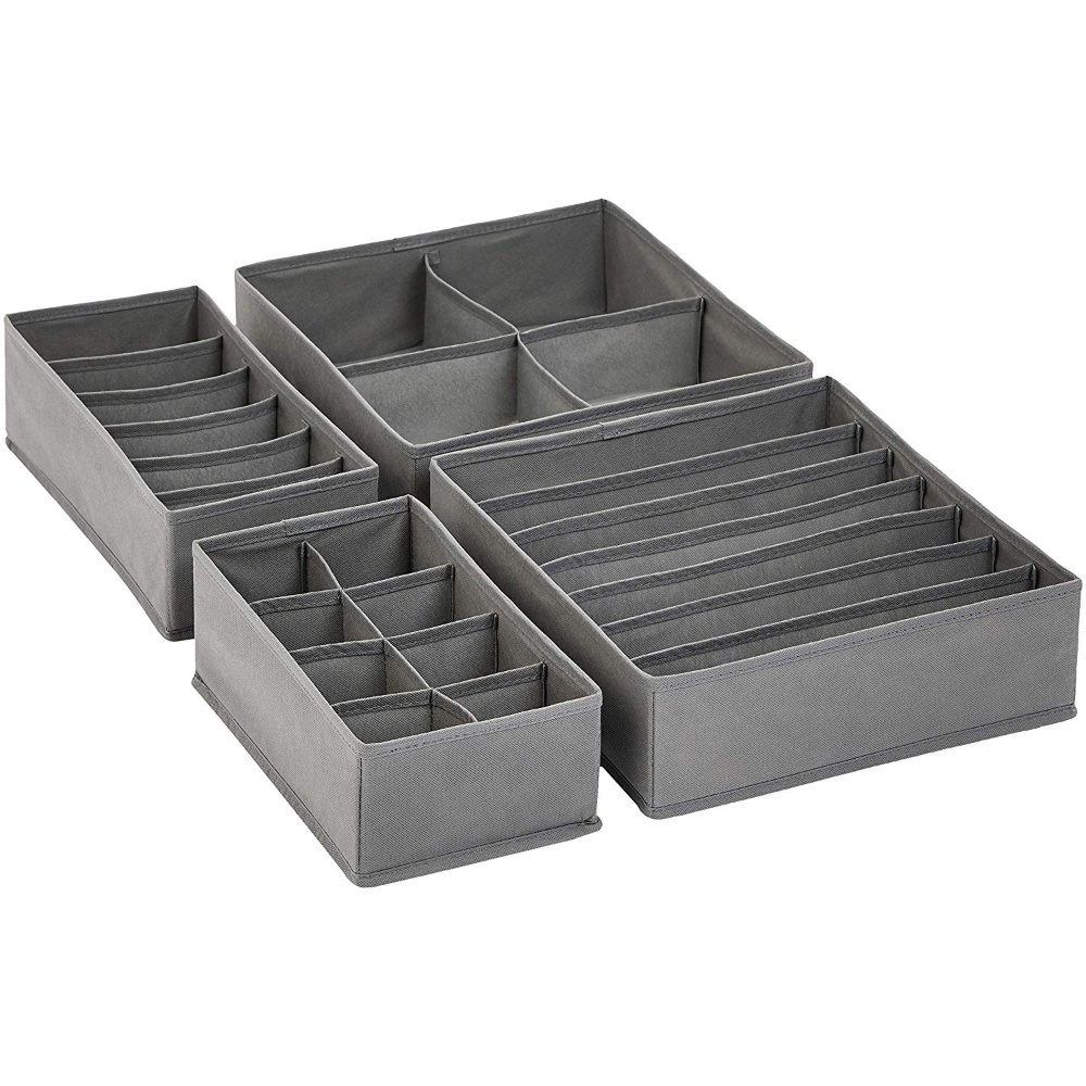 Amazon Com Amazonbasics Grey Dresser Drawer Storage Organizer For