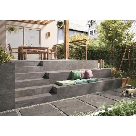 Photo of Villeroy and Boch My Earth terrace tile gray multicolor 60×60 cm