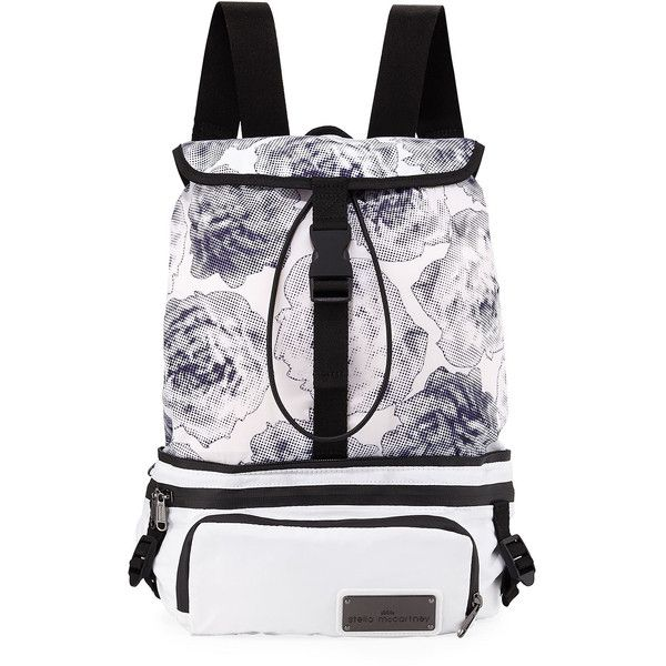 87dfc6faa14c Adidas By Stella Mccartney Run Convertible Printed Backpack ($130) ❤ liked  on Polyvore featuring bags, backpacks, handbags shoulder bags, shoulder bag,  ...
