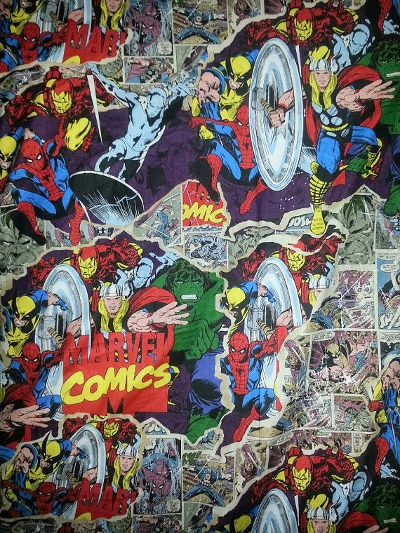 marvel avengers crib / toddler bed fitted sheet or changing pad