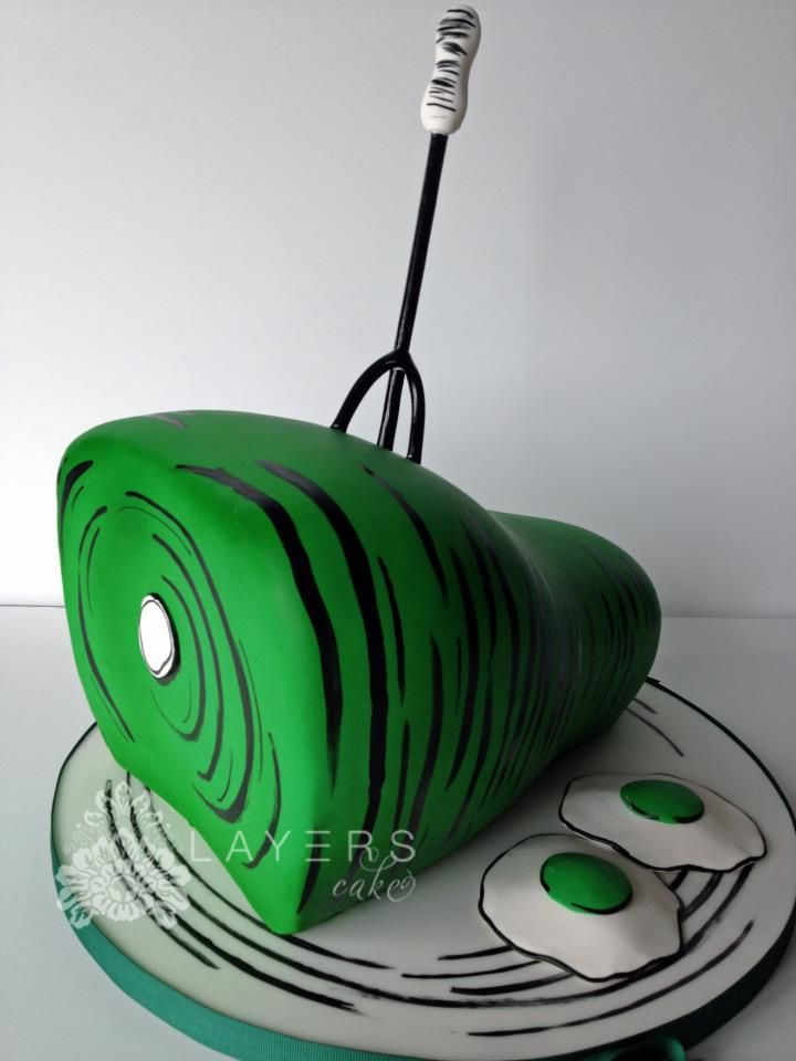 green eggs and ham sam i am Layers Cake   Seuss cakes, 1st ...