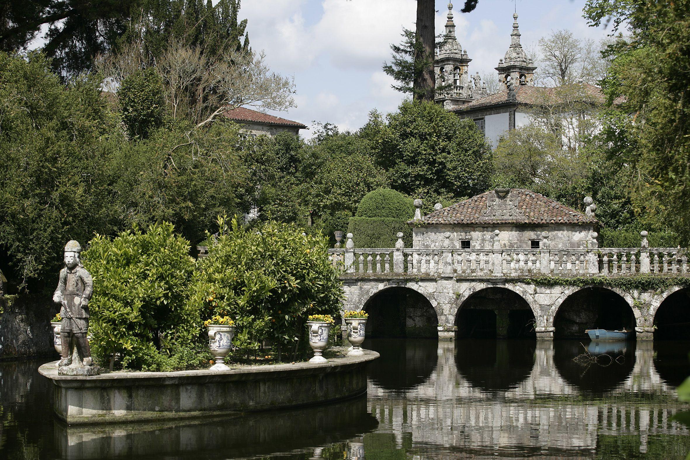 Jardines del pazo de oca a estrada pontevedra galicia for Jardines galicia