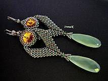 earrings. Náušnice - Chalcedony