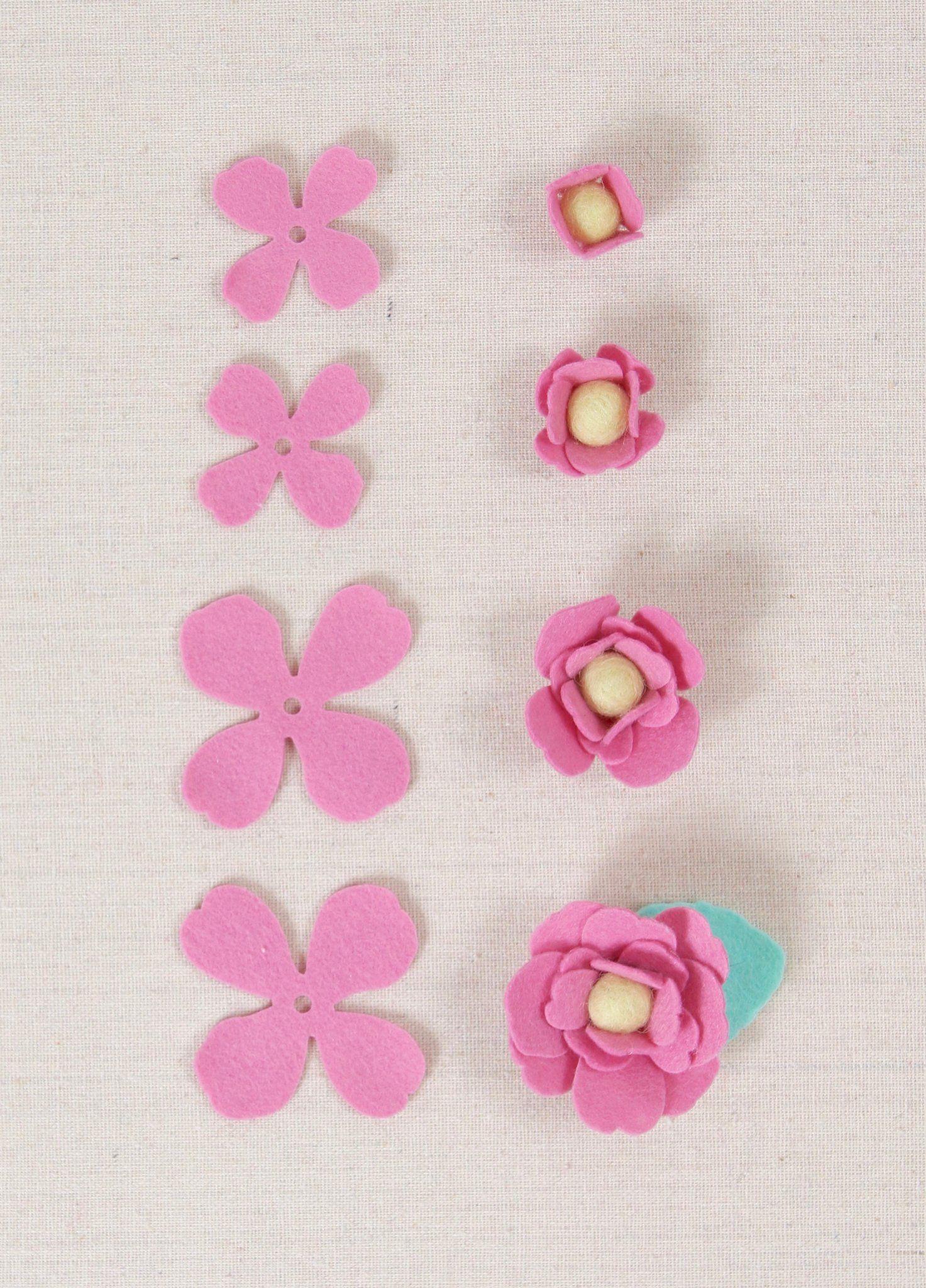 How To Make Felt Flowers Felt Flowers Diy