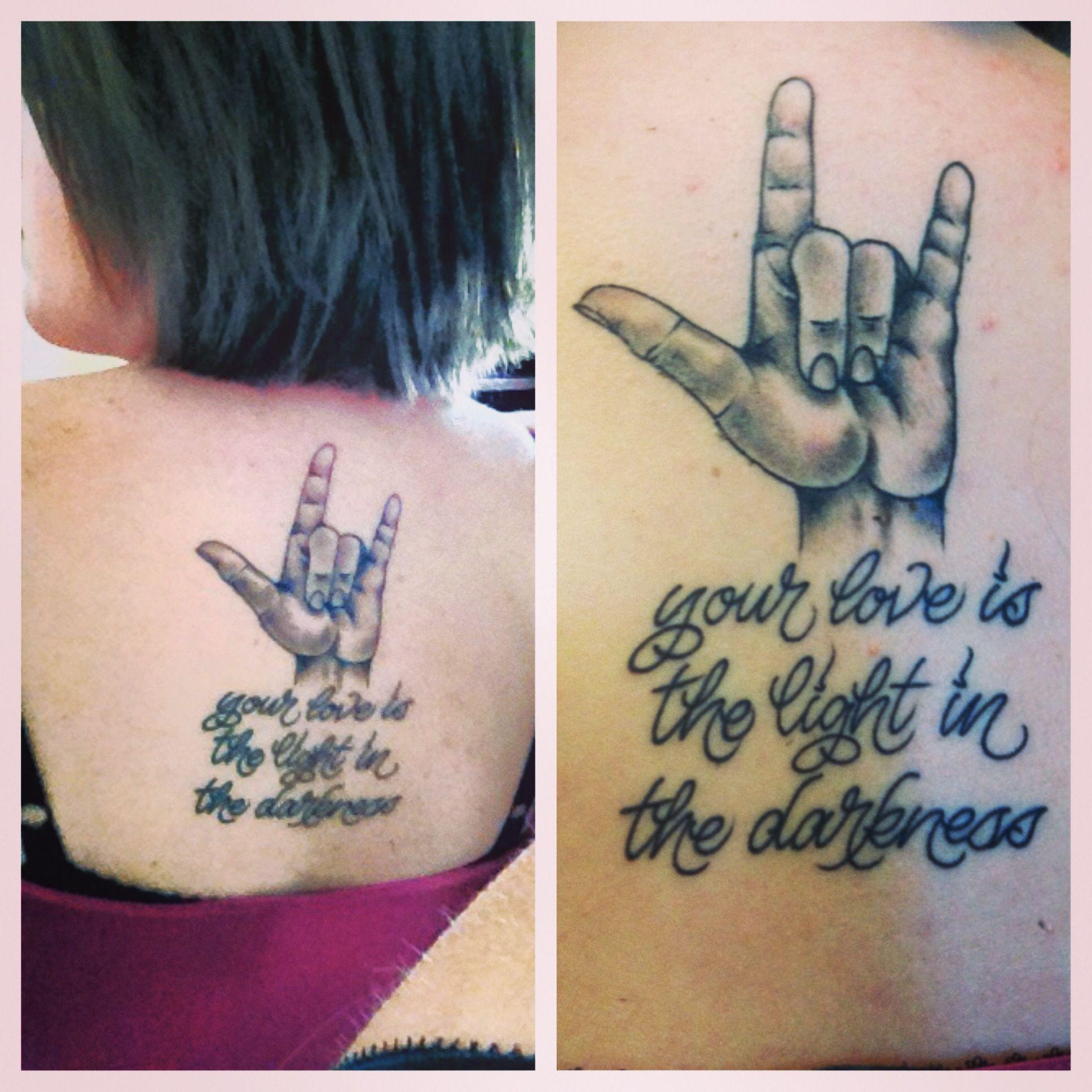"Asl Love Tattoo: ""I Love You"" ASL Sign Tattoo Done At Stay True Tattoo In"